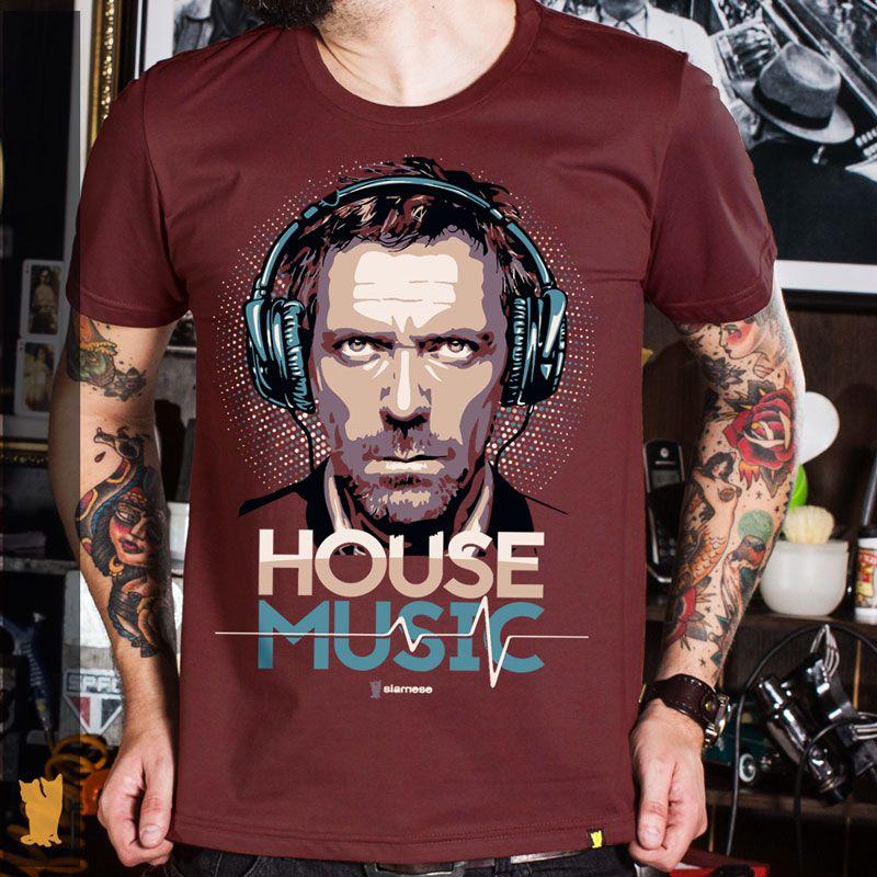 CAMISETA HOUSE MUSIC - BORDÔ