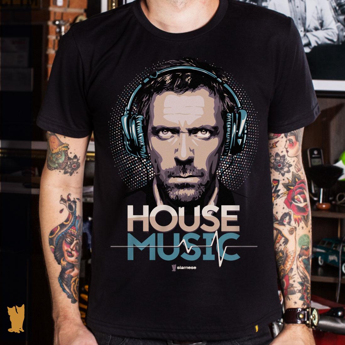 CAMISETA HOUSE MUSIC - PRETA