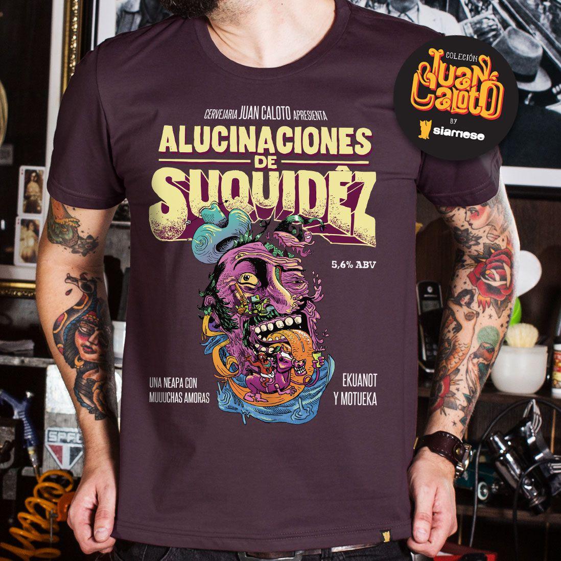 CAMISETA JUAN CALOTO - ALUCINACIONES DE SUQUIDÊZ
