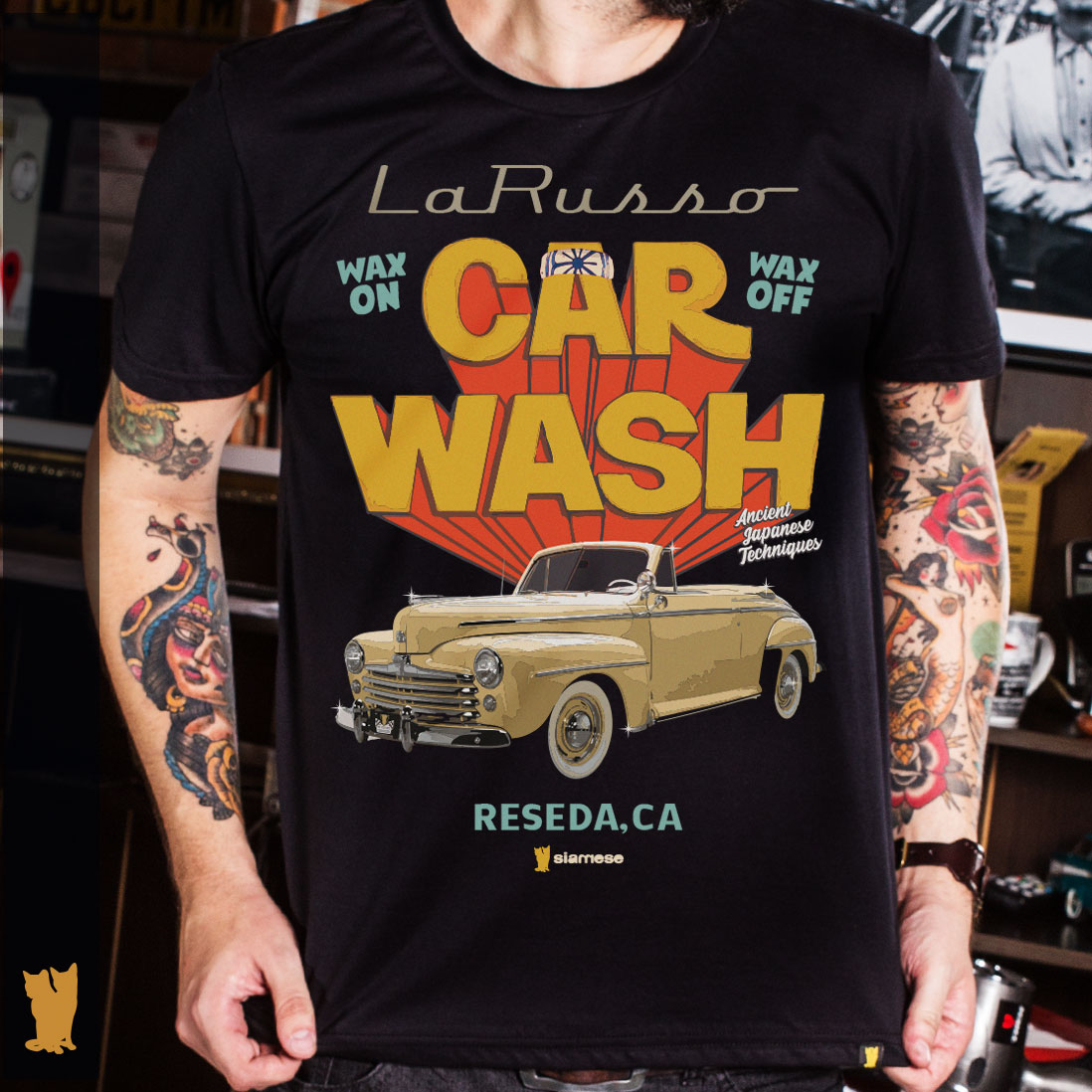 CAMISETA LA RUSSO CAR WASH