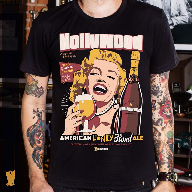 CAMISETA MARILYN MONROE HOLLYWOOD