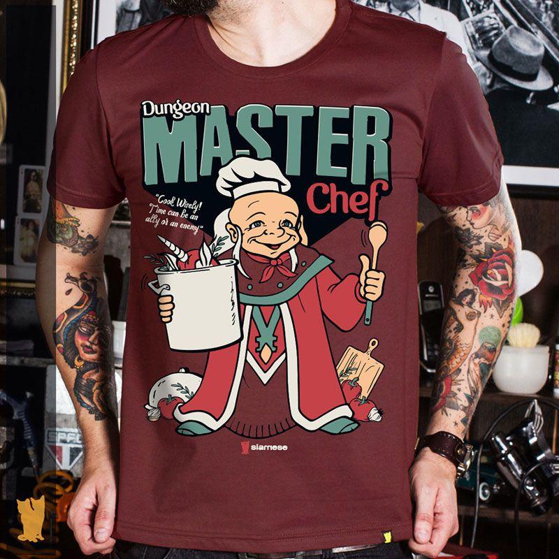 CAMISETA MESTRE DOS MAGOS MASTER CHEF - BORDÔ