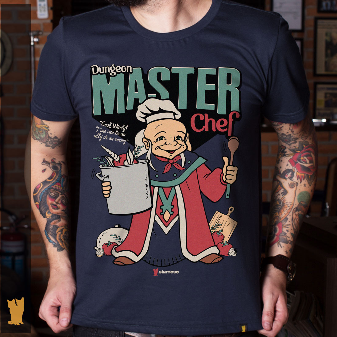 CAMISETA MESTRE DOS MAGOS MASTER CHEF - MARINHO