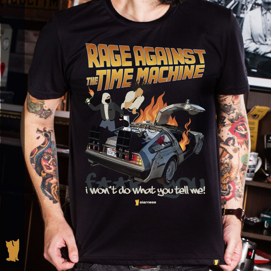 CAMISETA RAGE AGAINST THE TIME MACHINE
