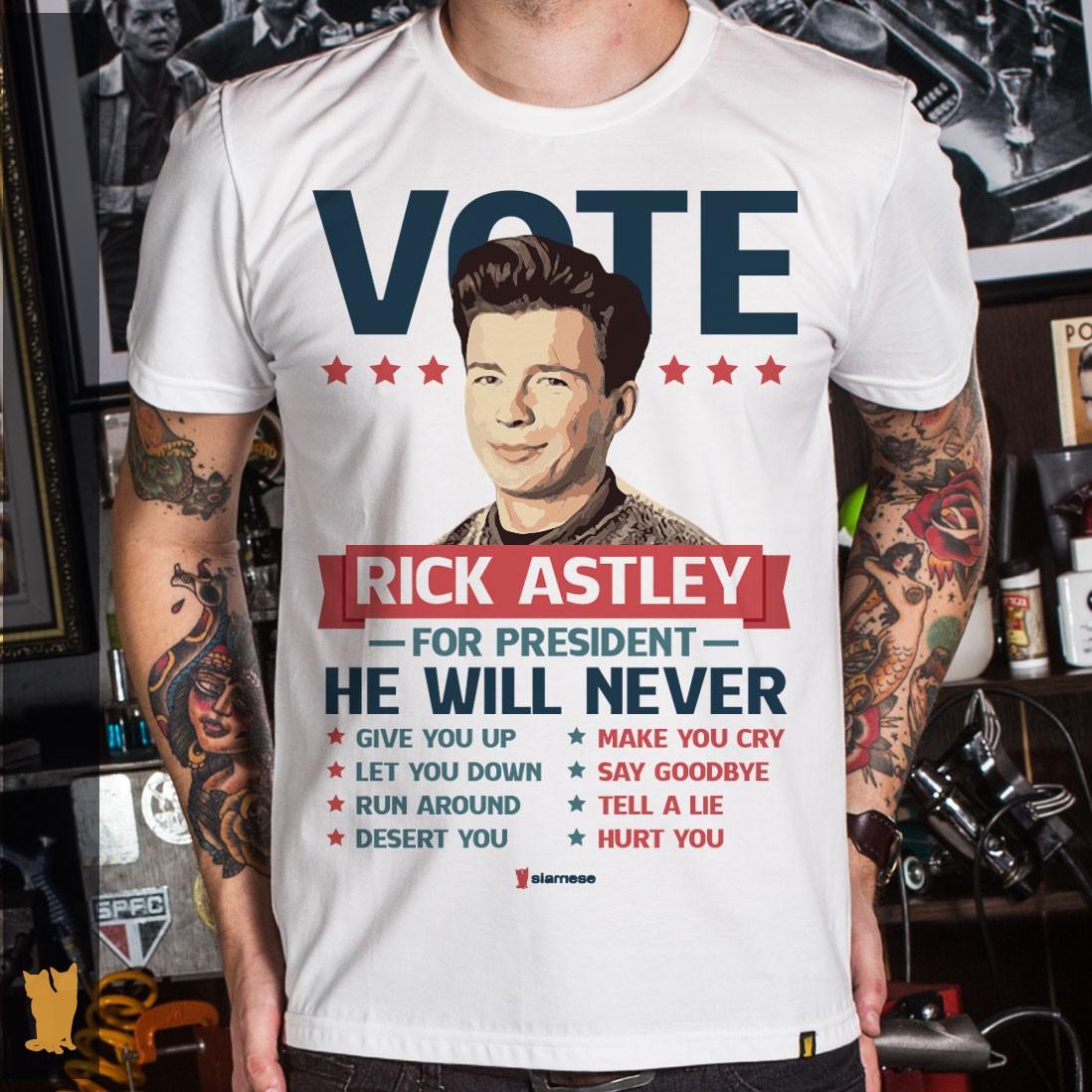 CAMISETA VOTE RICK ASTLEY