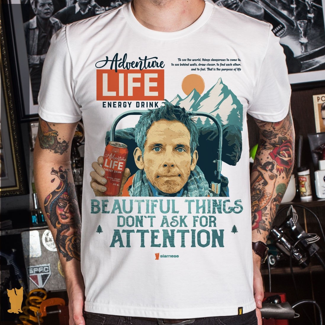 CAMISETA WALTER MITTY ADVENTURE LIFE