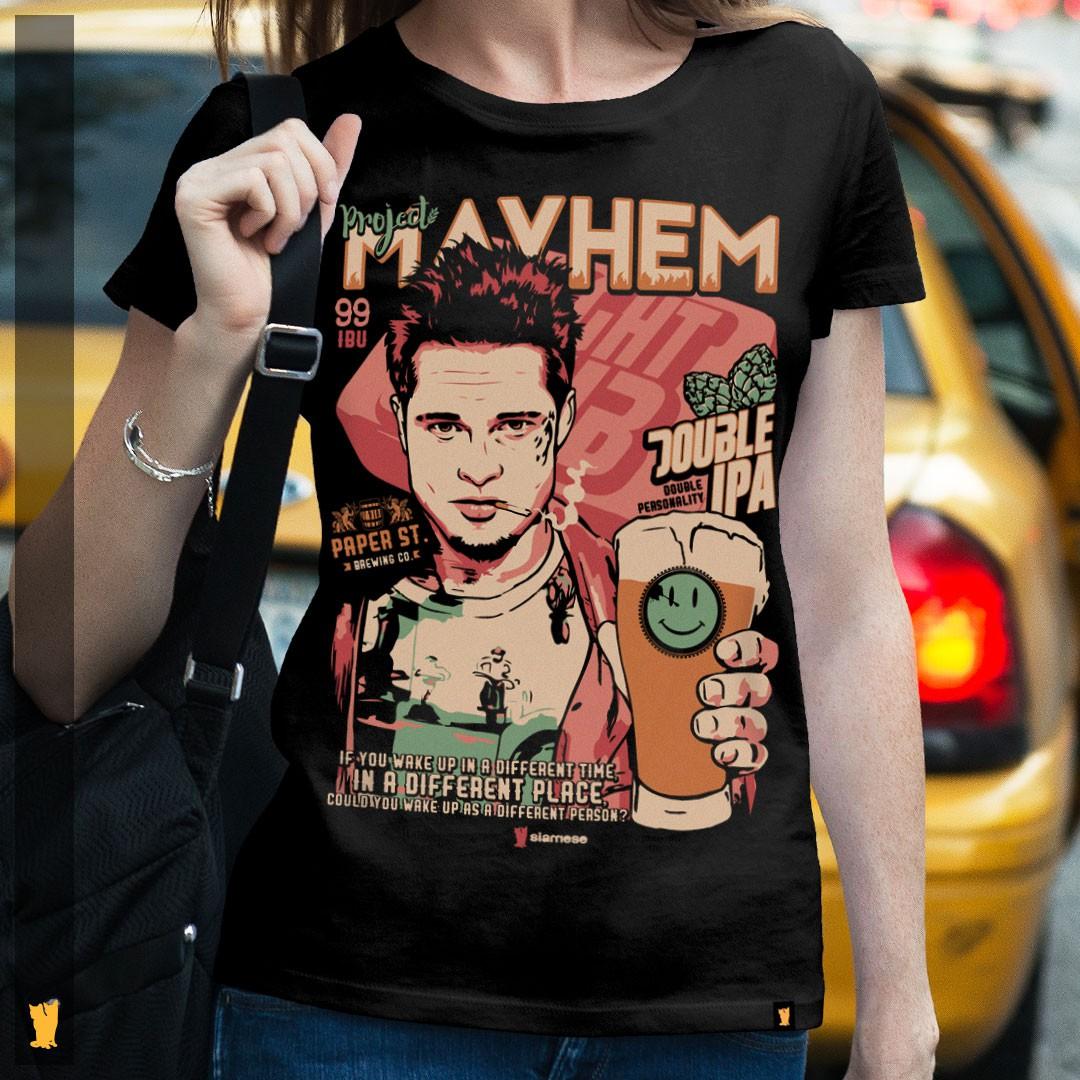 FEMININA - CLUBE DA LUTA PROJECT MAYHEM - PRETA
