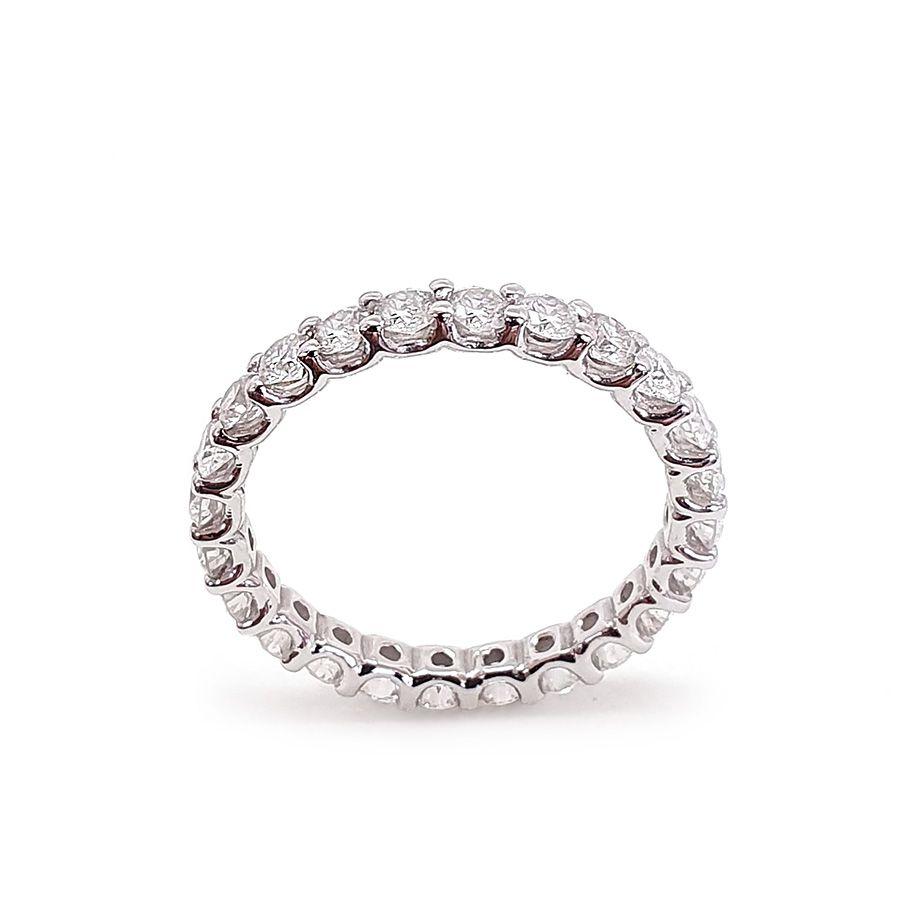 Anel Aliança Ouro 18k Inteira com Diamantes de 6 pontos   - YVES