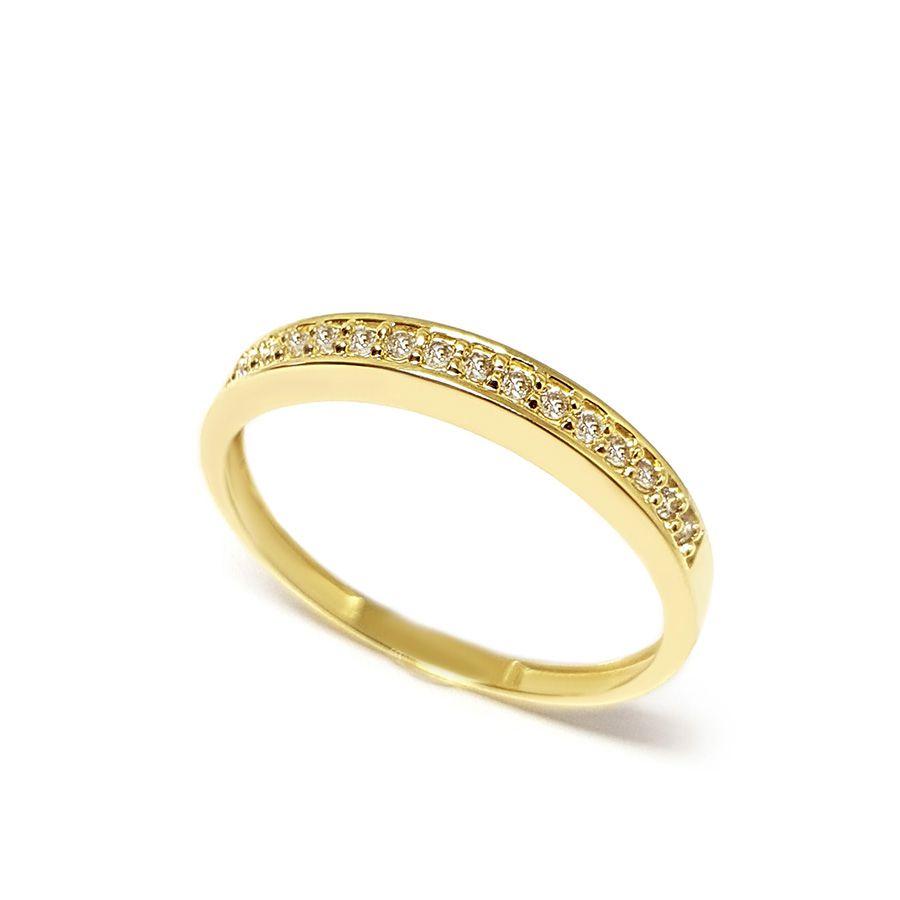 Anel Aparador Ouro 18k com 15 Diamantes