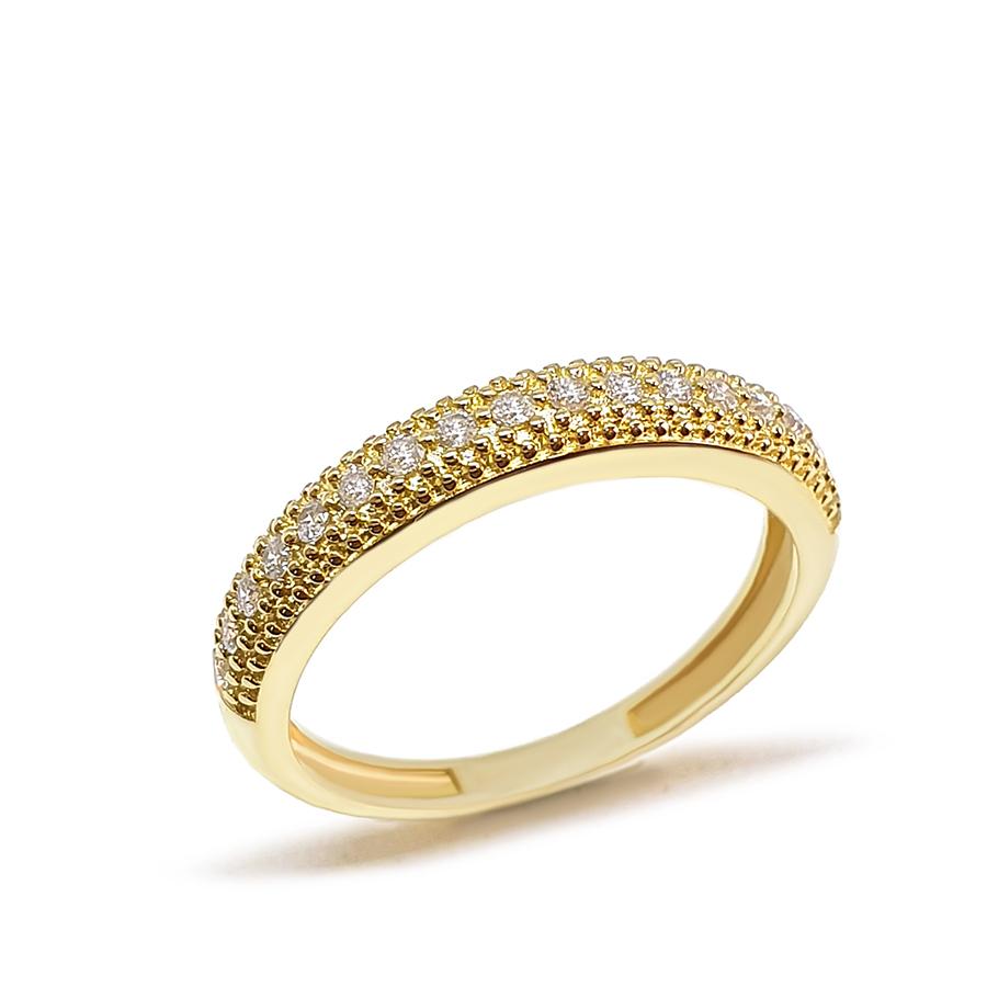 Anel Aparador Ouro 18k com 17 Diamantes  - YVES