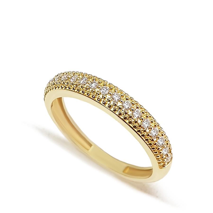 Anel Aparador Ouro 18k com 17 Diamantes