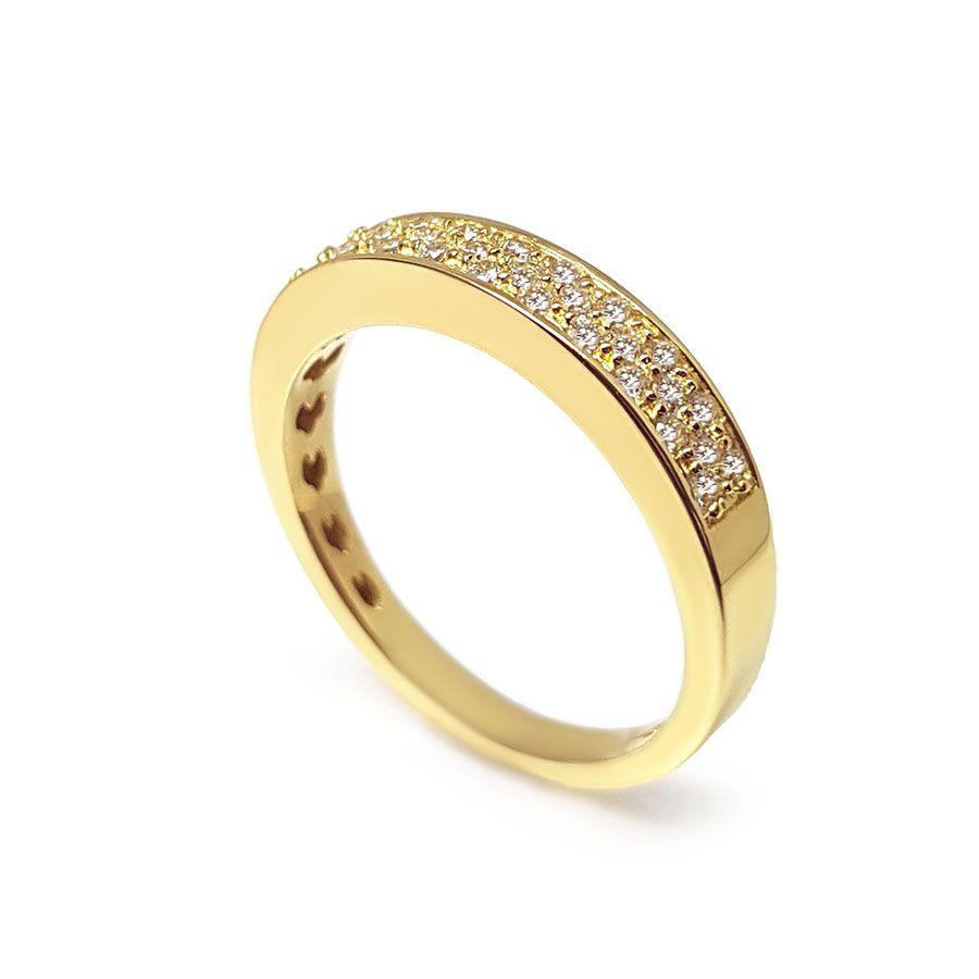 Anel Aparador Ouro 18k com 27 pontos em Diamantes  - YVES