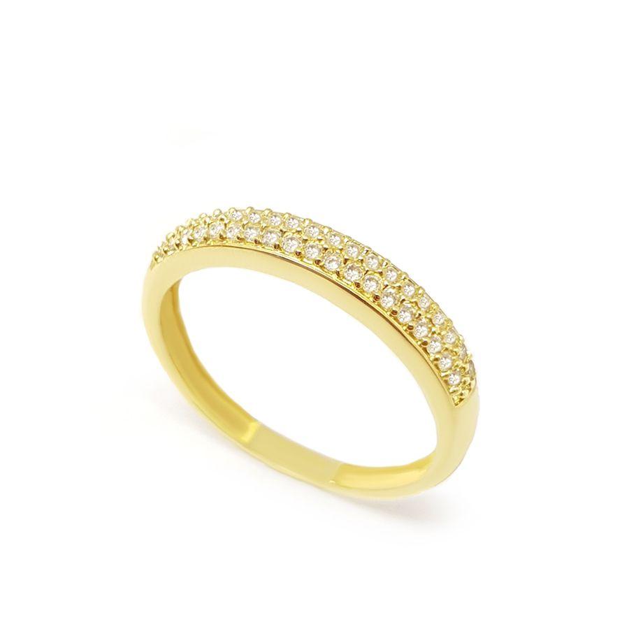 Anel Aparador Ouro 18k com 39 Diamantes