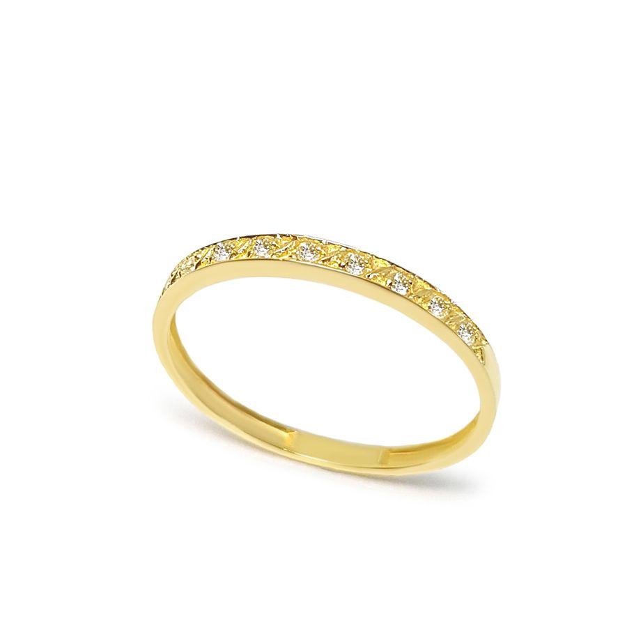 Anel Aparador Ouro 18k com 9 Diamantes