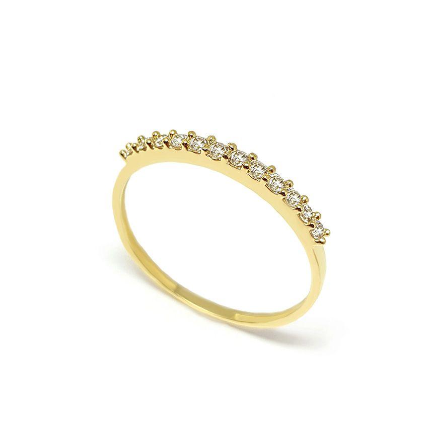Anel Aparador Ouro 18k com 18,9 pontos em Diamantes