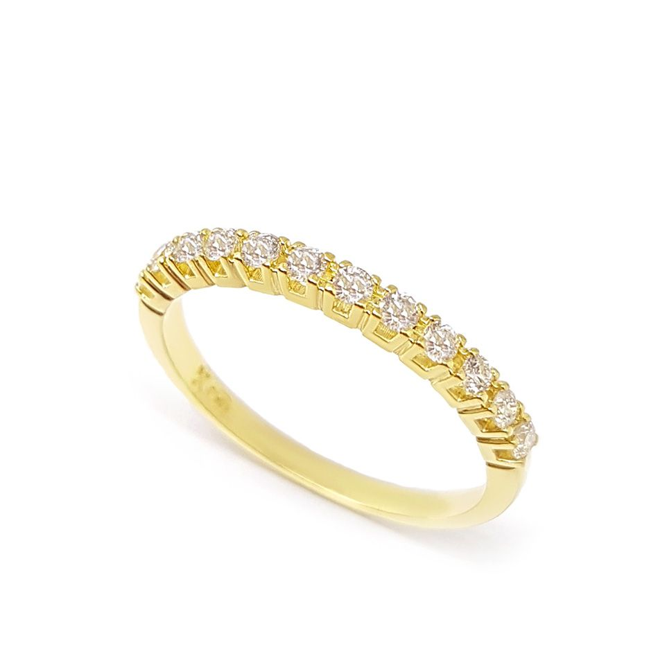 Anel Aparador Ouro 18k com 27,7 pontos em Diamantes