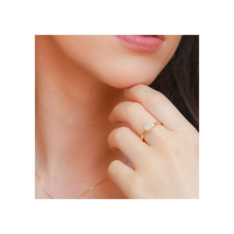 Anel Chuveiro Ouro 18k com 19 Diamantes   - YVES