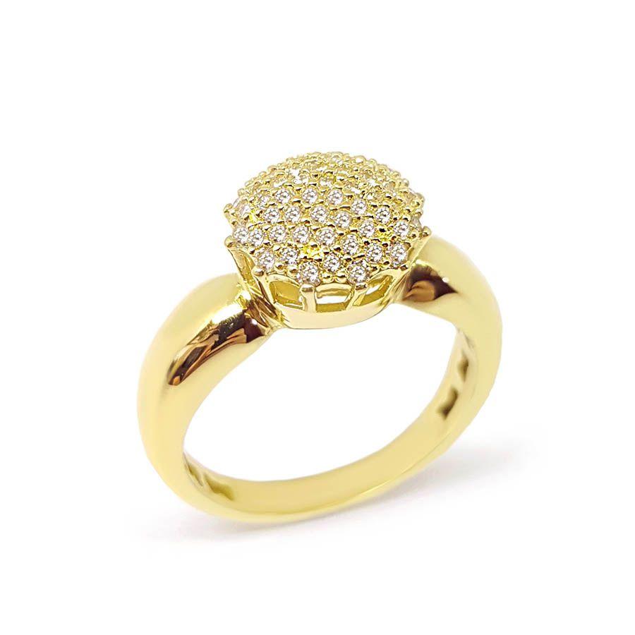 Anel Chuveiro Ouro 18k com 61 Diamantes