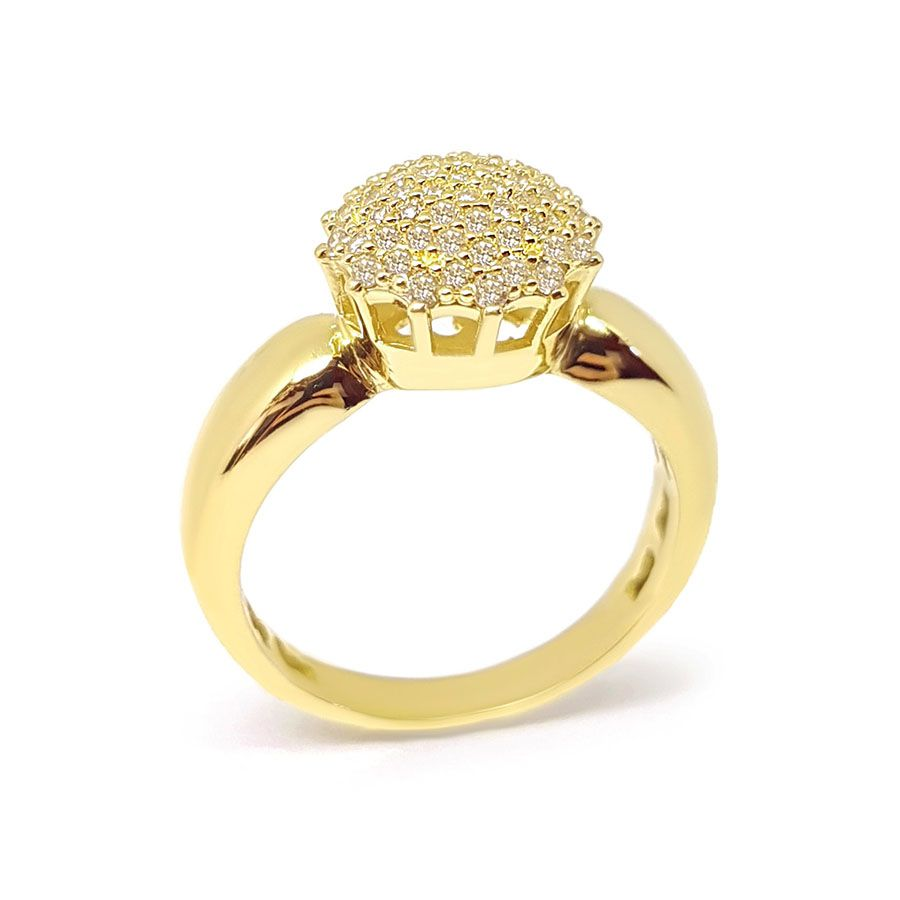 Anel Chuveiro Ouro 18k com 61 Diamantes   - YVES