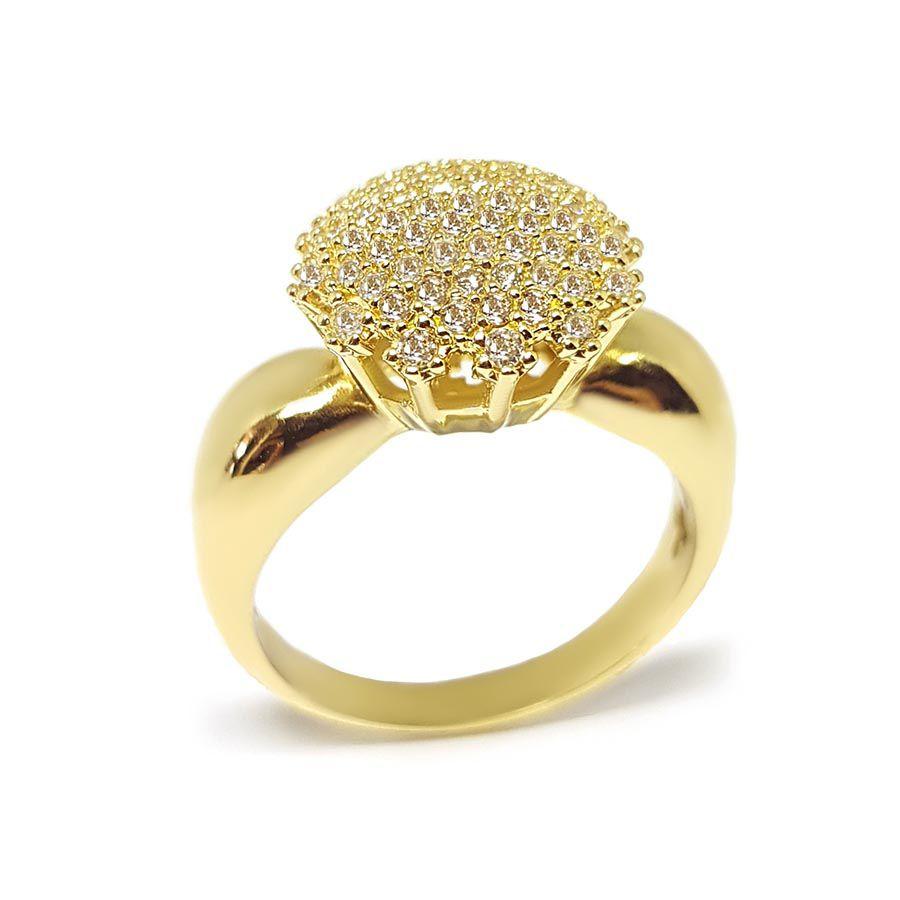 Anel Chuveiro Ouro 18k com 67 Diamantes