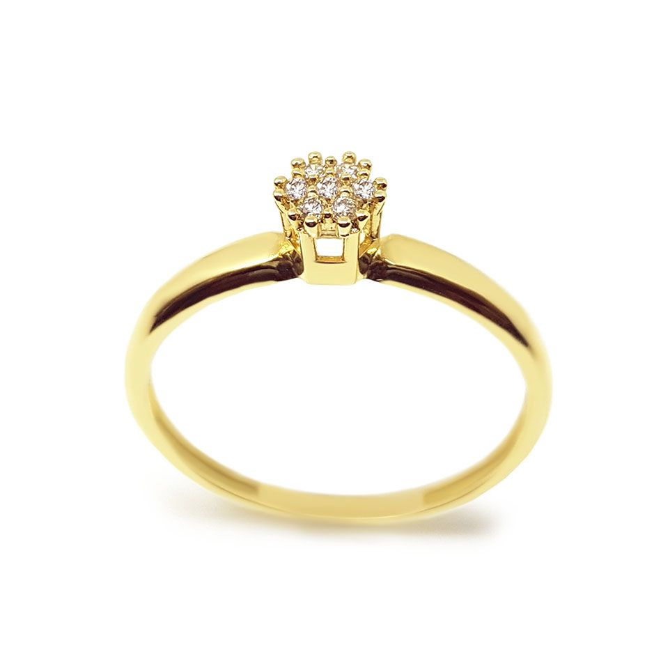 Anel Chuveiro Ouro 18k com 7 Diamantes  - YVES
