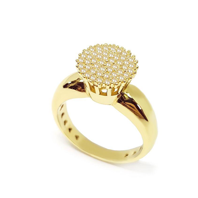 Anel Chuveiro Ouro 18k com Diamantes
