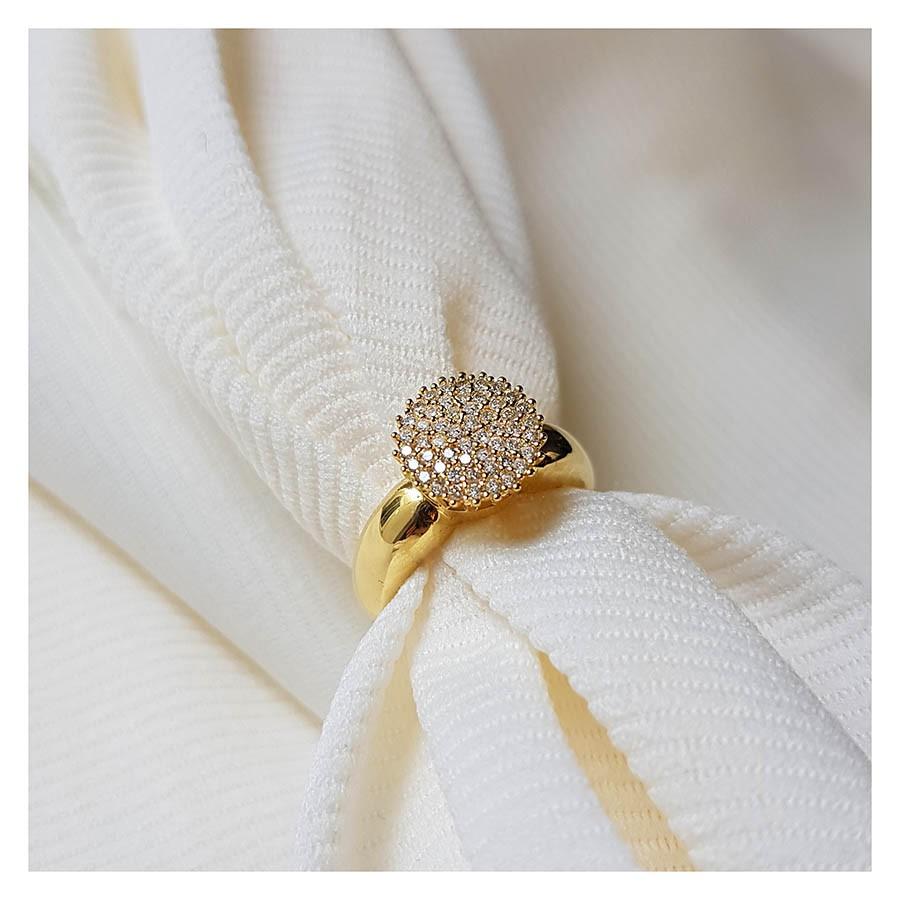 Anel Chuveiro Ouro 18k com Diamantes   - YVES