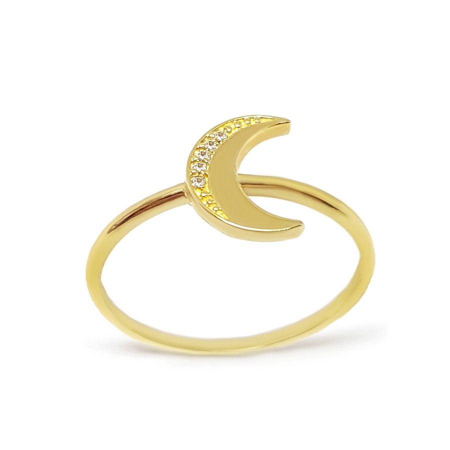 Anel Lua Ouro 18k com Diamantes   - YVES