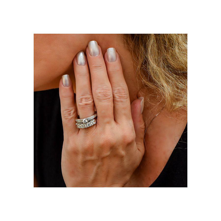 Anel Meia Aliança Ouro 18k com 1,5ct em Diamantes  - YVES