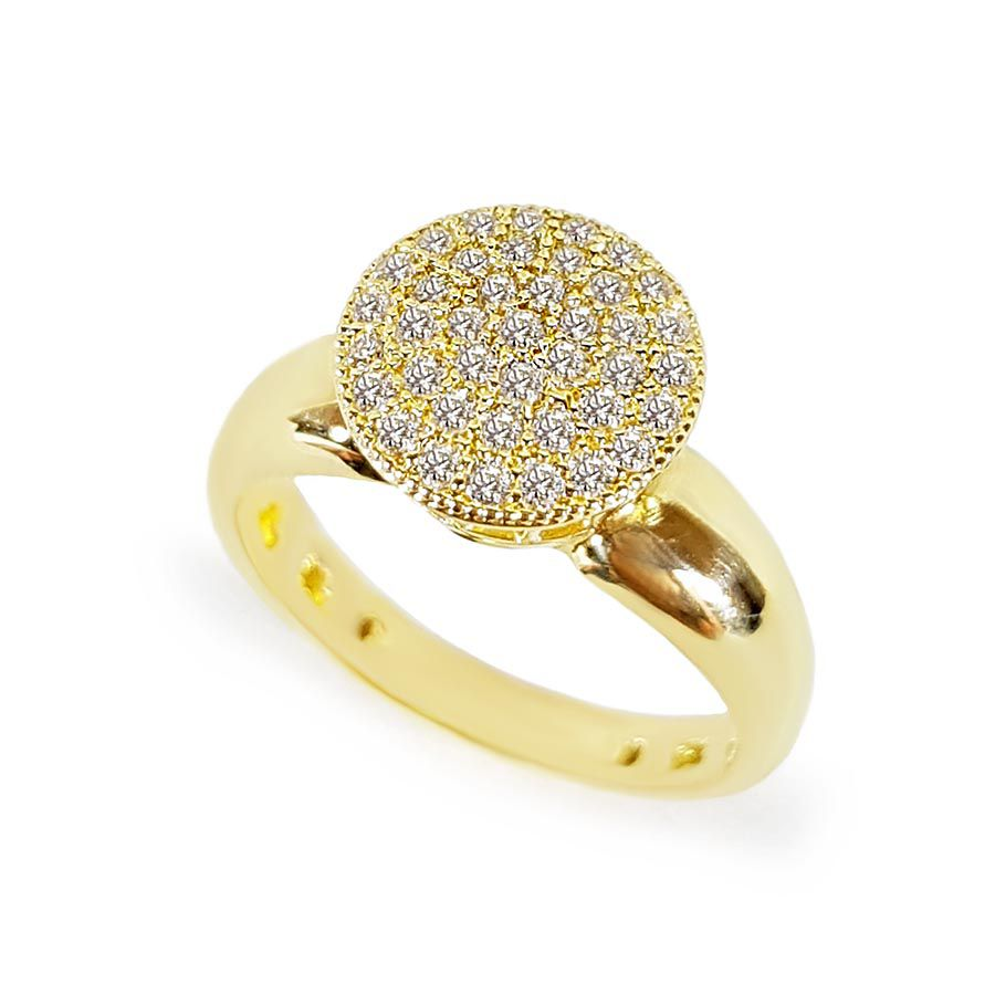 Anel Ouro 18k Chuveiro com 42 pontos em diamantes  - YVES