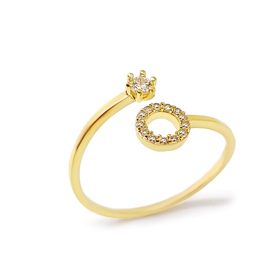 Anel Ouro 18k Circulo com Diamantes  - YVES