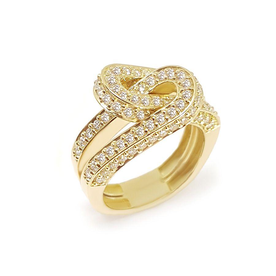 Anel Ouro 18k com 100 Diamantes   - YVES