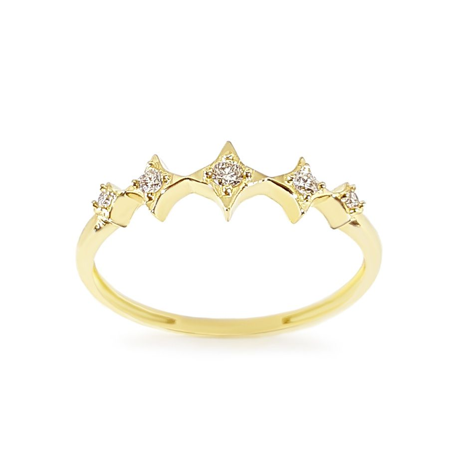 Anel Ouro 18k com 10 Pontos em Diamantes  - YVES
