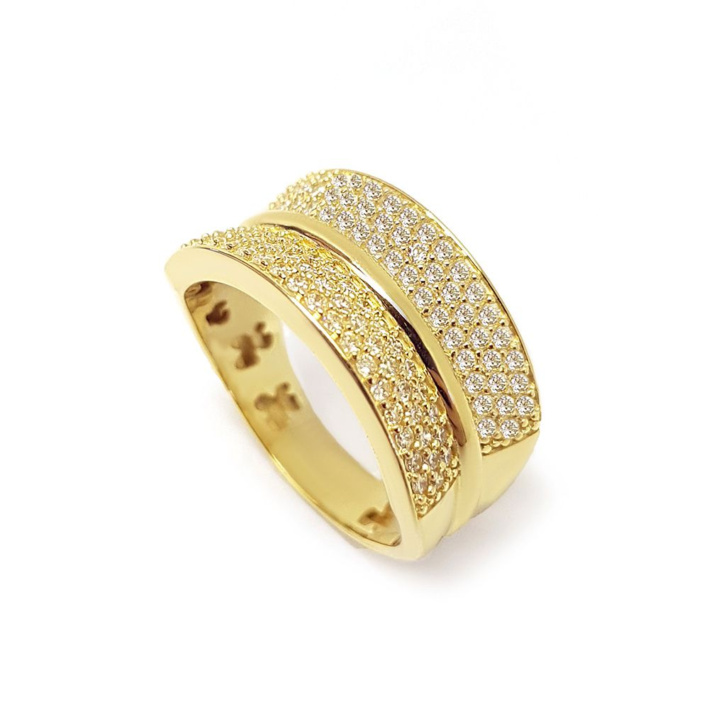 Anel Ouro 18k com 112 Diamantes