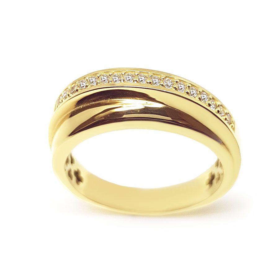Anel Ouro 18k com 17 Diamantes  - YVES