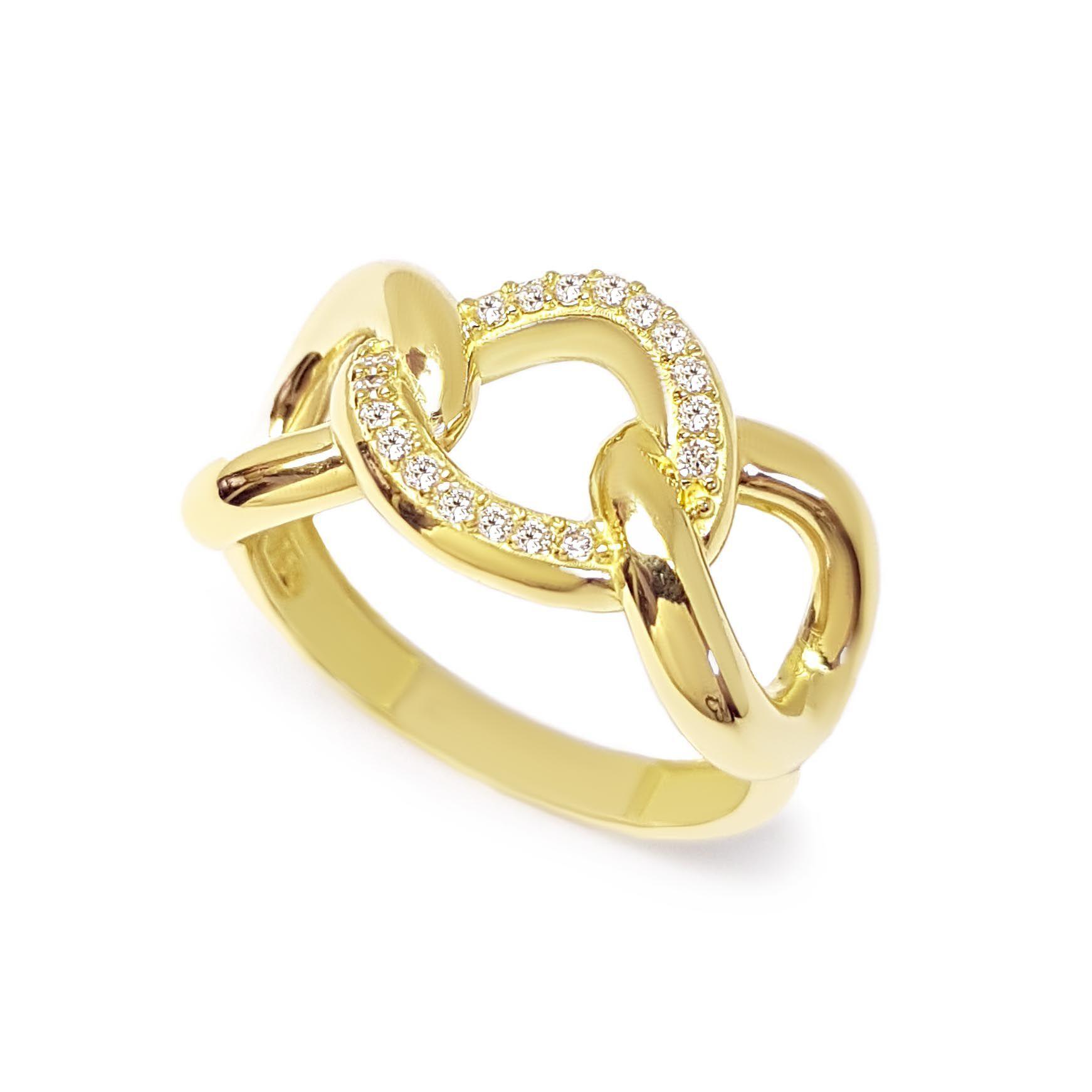 Anel Ouro 18k com 18 Diamantes  - YVES