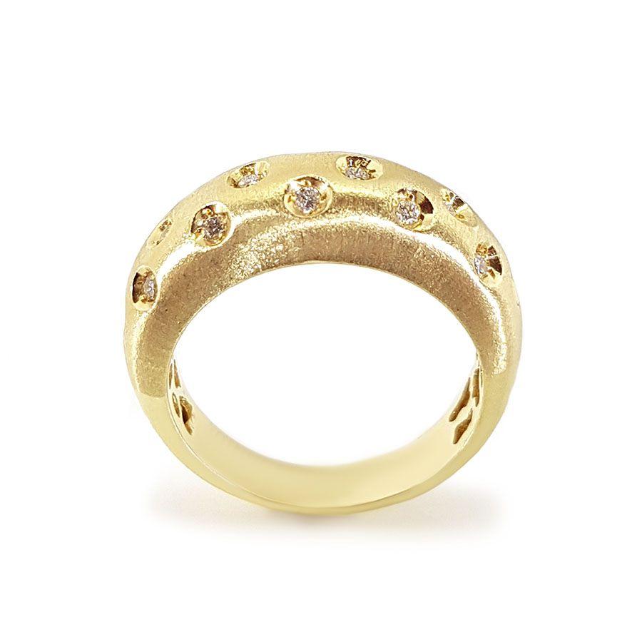 Anel Ouro 18k com 23 pontos em diamantes  - YVES