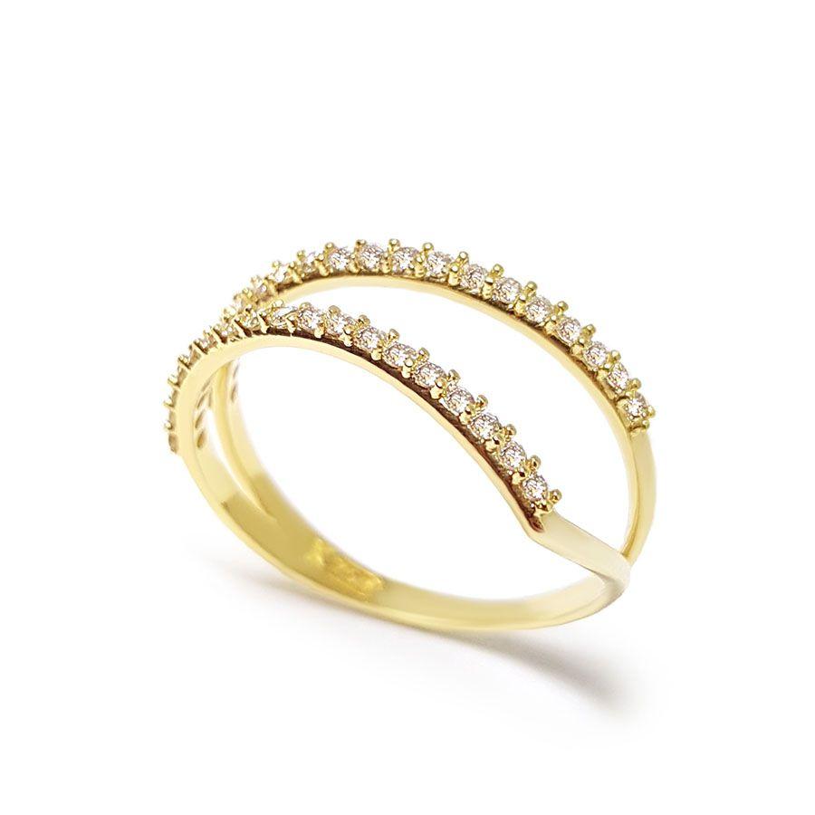 Anel Ouro 18k com 35 pontos em Diamantes  - YVES
