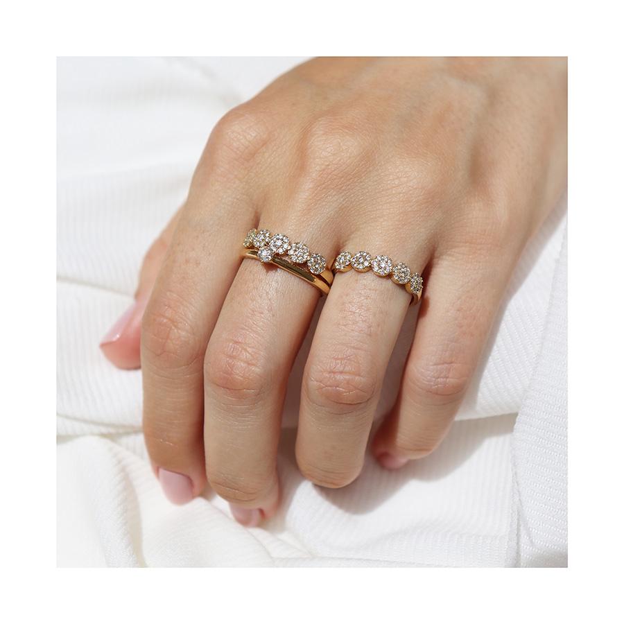 Anel Ouro 18k com 40 Diamantes   - YVES