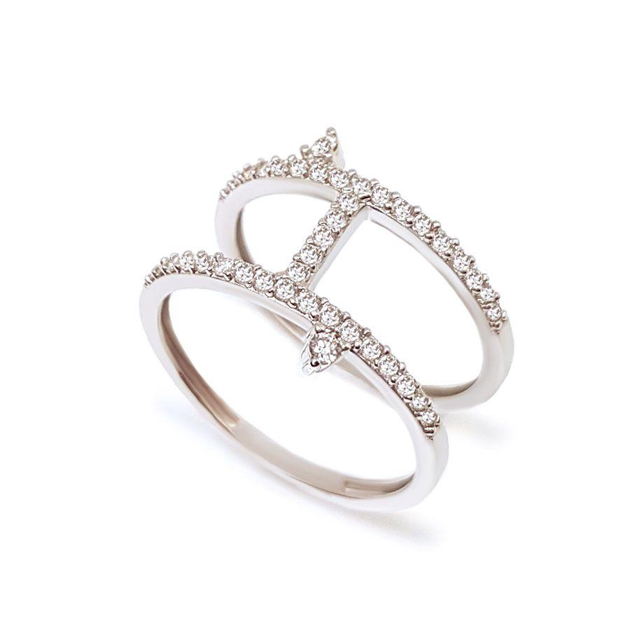 Anel Ouro 18k com 41 Diamantes  - YVES