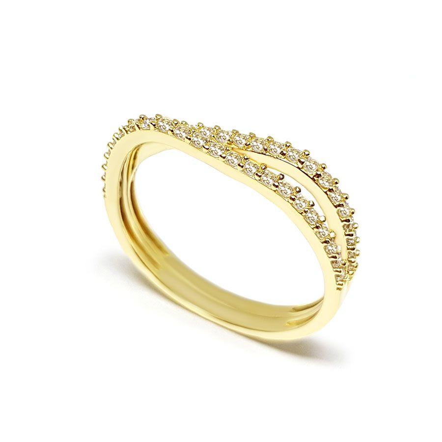 Anel Ouro 18k com 44 Diamantes  - YVES