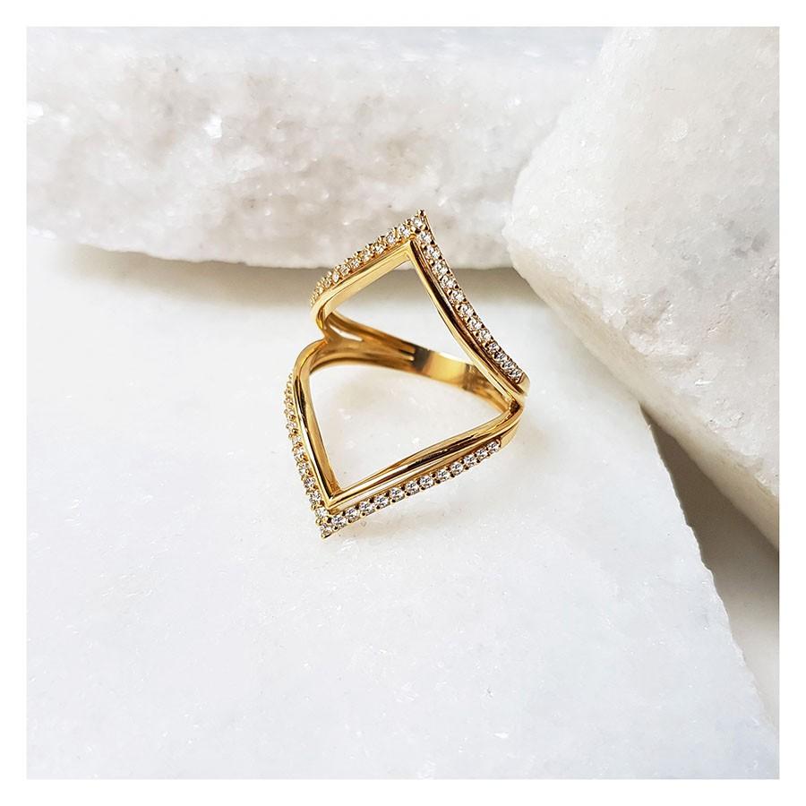 Anel Ouro 18k com 50 Diamantes   - YVES