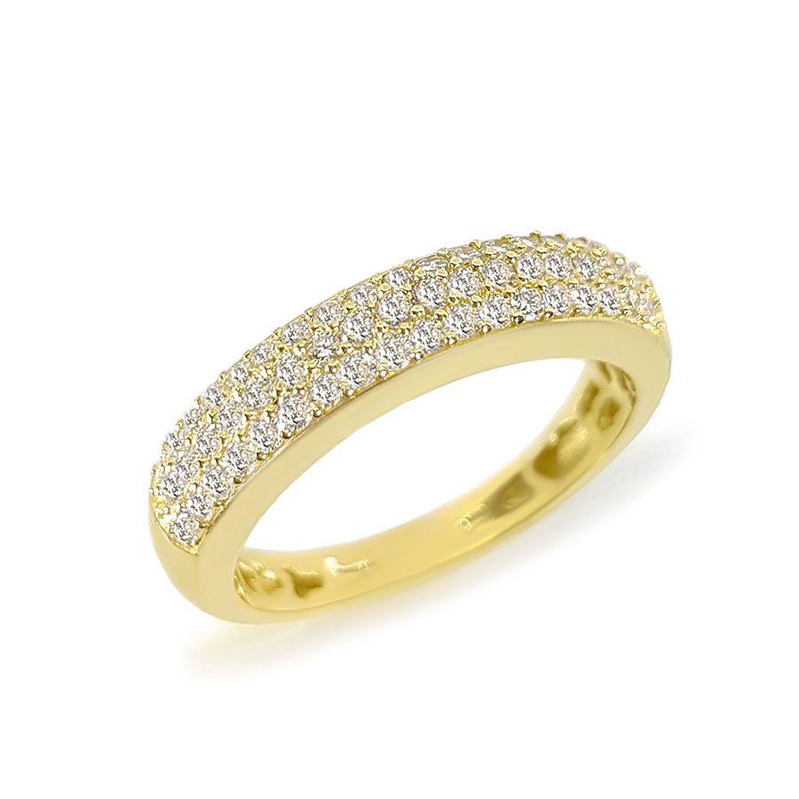 Anel Ouro 18k com 50 pontos em Diamantes