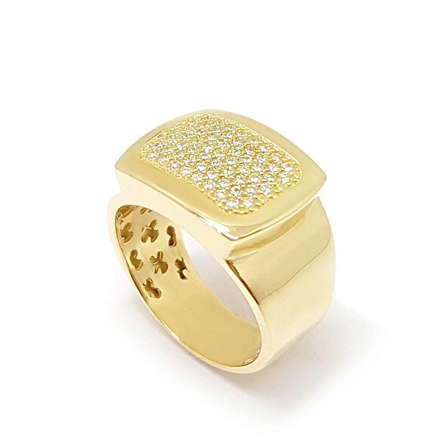 Anel Ouro 18k com 59 Diamantes