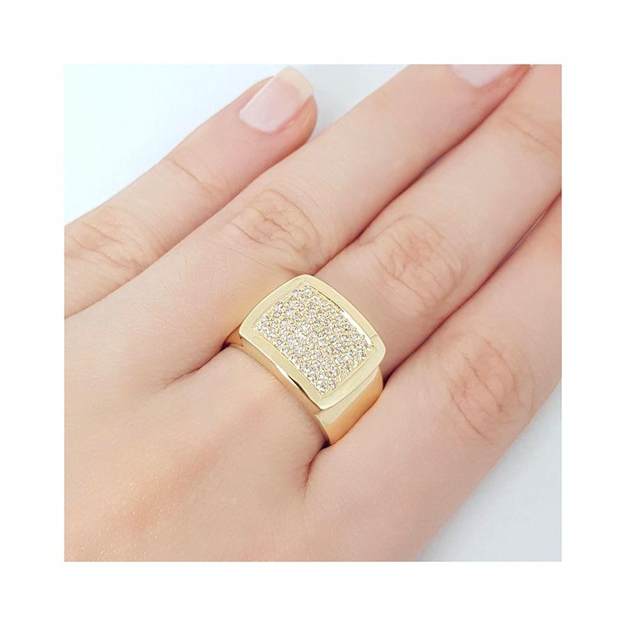 Anel Ouro 18k com 59 Diamantes   - YVES