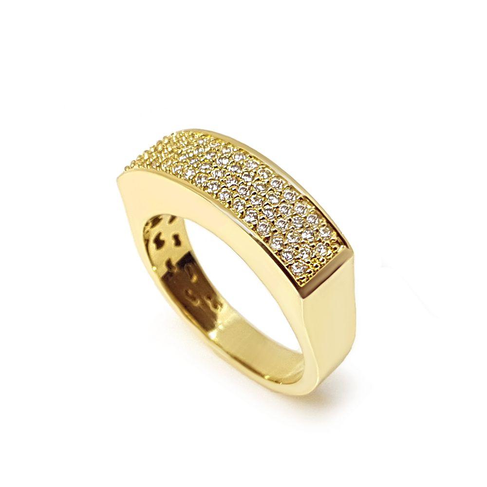 Anel Ouro 18k com 62 Diamantes