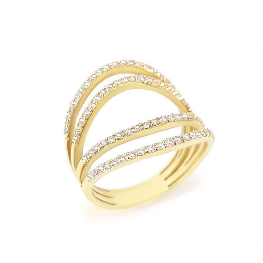 Anel Ouro 18k com 67 pontos em Diamantes  - YVES