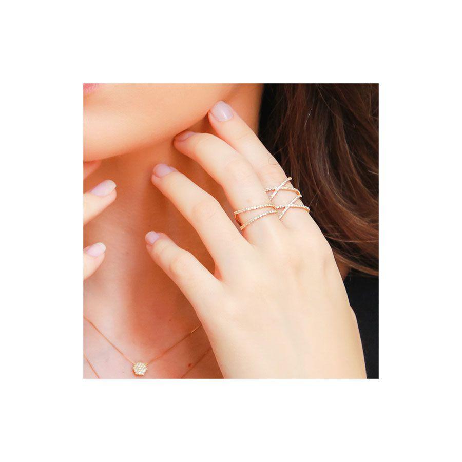 Anel Ouro 18k com 74 diamantes   - YVES
