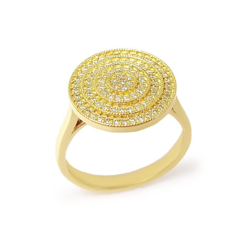 Anel Ouro 18k com 85 Diamantes   - YVES