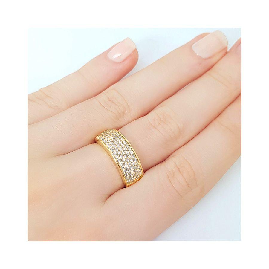 Anel Ouro 18k com 87 Diamantes   - YVES
